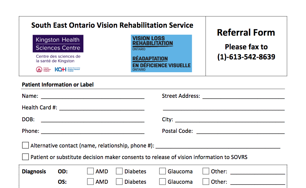 SOVRS Referral form